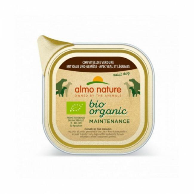 Pâtée pour chien Daily Menu Bio Almo Nature - Lot de 9 barquettes de 300 g