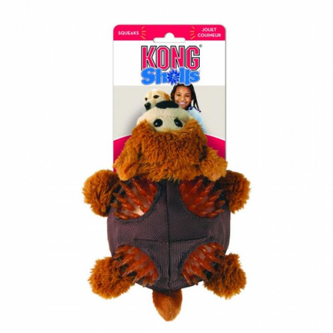 Peluche ours avec sifflet pour chien KONG Shells