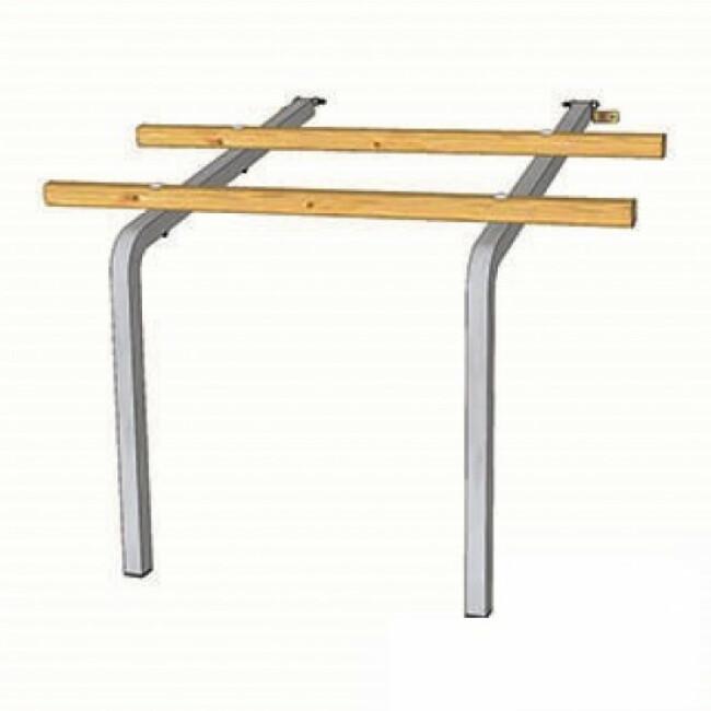 Perchoir en bois et acier pour poulailler