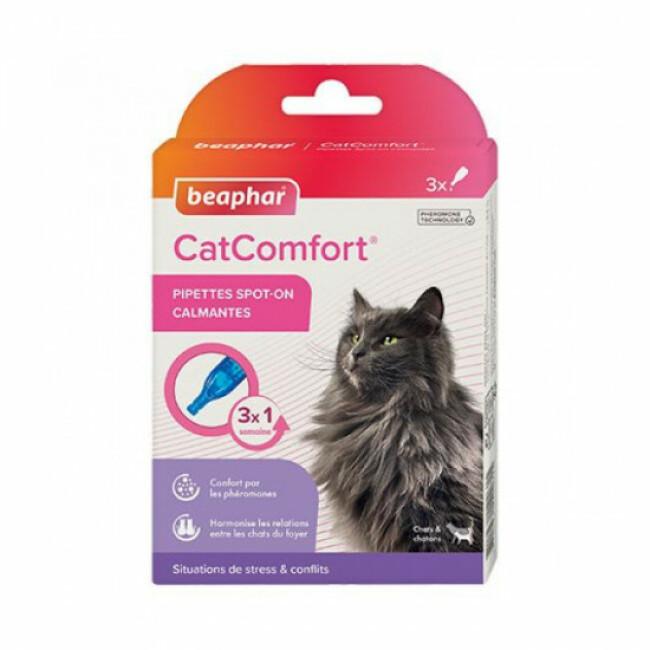 Pipettes CatComfort calmantes aux phéromones pour chats et chatons
