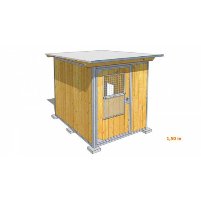 Poulailler durable en bois et métal avec 1 box
