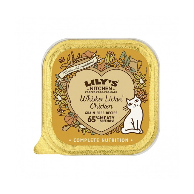 Pâtées sans céréales pour chat adulte Multipack (x2 Poulet, x2 Volaille, x2 Gibier, x2 Agneau) Lily's Kitchen Barquettes 8 * 85 g