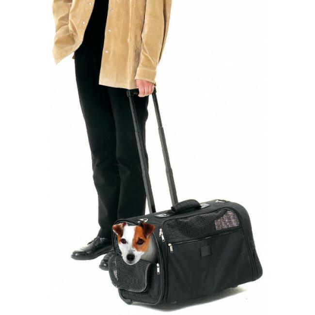 Sac de transport noir Smart Flamingo pour chiens