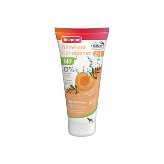 Shampoing Bio démêlant 2en1 aux extraits naturels d'abricot & huile d'argan