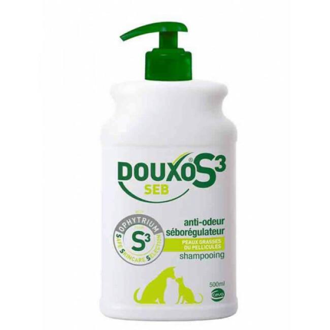 Shampoing séborrhée pour chien et chat Douxo S3