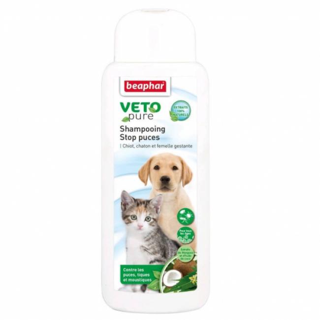 Shampoing VETOpure Stop puces pour chiot, chaton, femelle gestante et allaitante