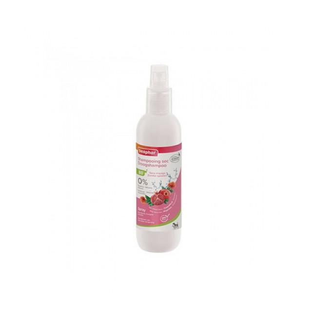 Spray shampoing sec Bio aux extraits naturels de coquelicot & de grenade pour chat et chien