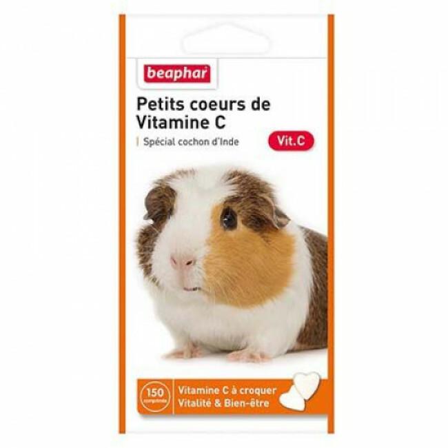 Vitamines C en forme de petits coeurs pour cochon d'Inde Beaphar