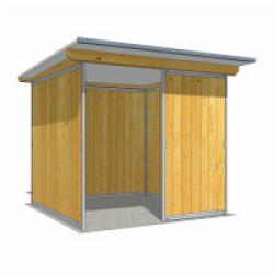 Abri de jardin en bois multi-usages Deluxe avec cloison - 2,03 x 2,06 cm