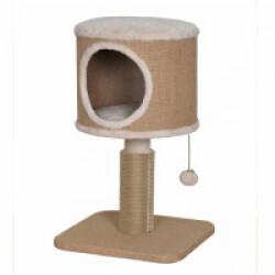 Arbre à chat avec griffoir en caoutchouc et abri en jute - hauteur 60,5 cm
