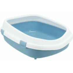 Bac à litière Primo XXL avec haut rebord Trixie Bleu / Blanc