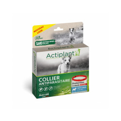 Collier antiparasitaire pour chien Essential Rouge 100% Biodégradable 41 cm