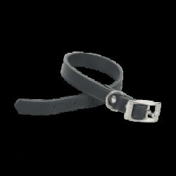 Collier Chapuis Sellerie en cuir noir pour chien Largeur 40 mm Longueur 70 cm