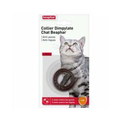 Collier Dimpylate anti-tiques et puces pour chat Beaphar - Marron