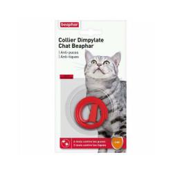 Collier Dimpylate anti-tiques et puces pour chat Beaphar - Rouge