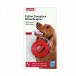Collier Dimpylate pour petit et moyen chien anti-puces et tiques Beaphar - Rouge