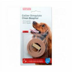 Collier Dimpylate pour petit et moyen chien anti-puces et tiques Beaphar - Beige