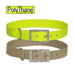 Collier polymère renforcé PolyThane pour chien T3 jaune
