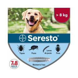 Collier Seresto Bayer Anti-puces et tiques pour chien Chiens > 8 kg