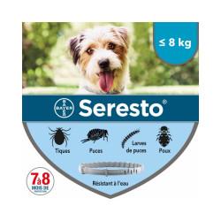 Collier Seresto Bayer Anti-puces et tiques pour chien Chiens < 8 kg