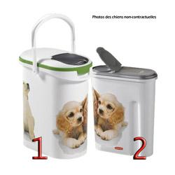 Container verseuse à croquettes décor chien Petlife 10 Litres