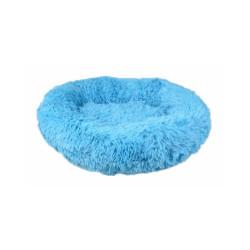 Coussin pour chien doux rond Krems Flamingo - diamètre 50 cm Coloris Bleu