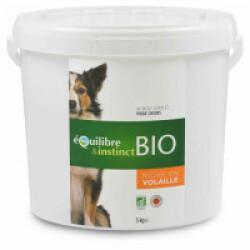 Croquettes BIO Equilibre & Instinct goût volaille pour chien - Seau 5 kg