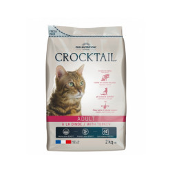 Croquettes Crocktail Adult Flatazor Pro Nutrition à la dinde pour chat adulte Sac 2 kg