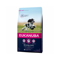 Croquettes Eukanuba Junior Growing Puppy Moyennes Races Sac 3 kg