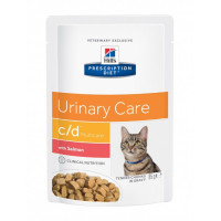 Hill's Prescription Diet Feline C/D Multicare Poisson 12 Sachets 85 g