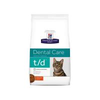 Croquettes Hill's Prescription Diet Feline T/D Sac 1,5 kg