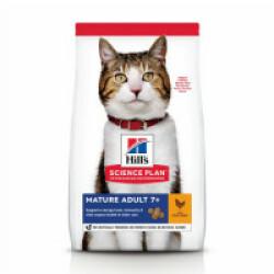 Croquettes pour chat mature actif Hill's Science Plan Longevity Poulet Sac 1,5 kg (Fin de DLUO)