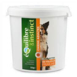 Croquettes pour chien Adulte Equilibre & Instinct volaille fraîche - Seau 14 kg