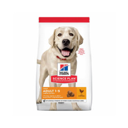 Croquettes pour chien adulte grandes races Hill's Science Plan Light Sac 18 kg