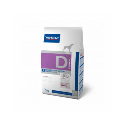 Croquettes pour chien Veterinary HPM Dermatology support Virbac Sac 3 kg