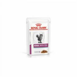 Royal Canin Veterinary Diet Renal pour chats Bouchées en sauce Poisson 12 Sachets 85 g