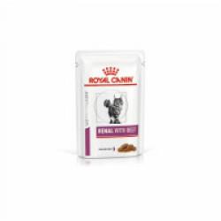 Royal Canin Veterinary Diet Renal pour chats Bouchées en sauce Boeuf 12 Sachets 85 g