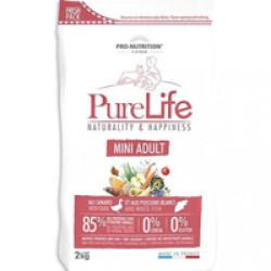 Croquettes sans céréales pour chien Mini Adult Pure Life Flatazor Pro Nutrition Sac 2 kg