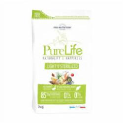 Croquettes sans céréales pour chien stérilisé Pure Life Light & Sterilized Flatazor Pro Nutrition Sac 2 kg