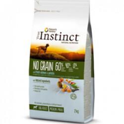 Croquettes True Instinct No Grain Medium et Maxi Adult Saumon sac 2 kg