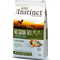 Croquettes True Instinct No Grain Medium et Maxi Adult Saumon sac 12 kg