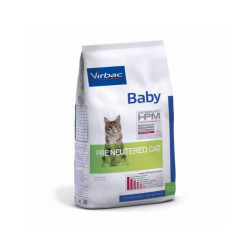 Croquettes Virbac HPM Baby Pre Neutered pour chat Sac 400 g
