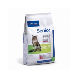 Croquettes Virbac HPM Senior Neutered pour chat Sac 1,5 kg