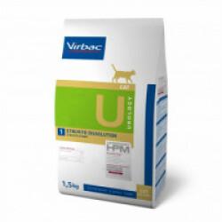 Croquettes Virbac HPM Urology Struvite Dissolution pour chat Sac 1,5 kg
