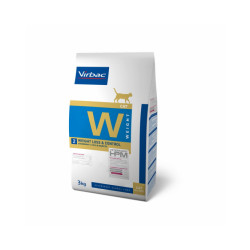 Croquettes Virbac HPM Weight Loss & Control W2 pour chat Sac 1,5 kg