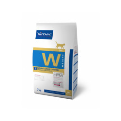 Croquettes Virbac HPM Weight Loss & Control W2 pour chat Sac 7 kg
