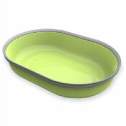 Écuelle 1 compartiment 420 ml verte pour distributeur Surefeed