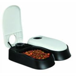 Distributeur automatique de nourriture pour chien et chat Trixie TX2 Blanc et Noir