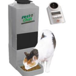 Distributeur croquettes automatique et programmable pour petit chien ou chat Resto Chat