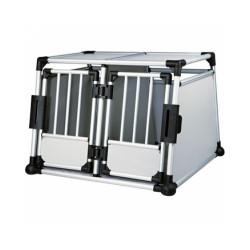 Cage de transport voiture pour 1 ou 2 chiens Autolux™ T430 Double box 2 portes